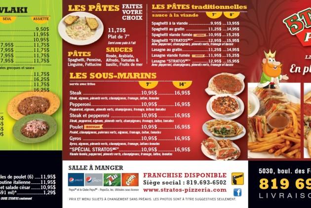 Restaurant Le Cartier Laval Menu