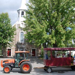 Tracteur et carriole