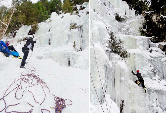 escalade de glace parc de la mauricie