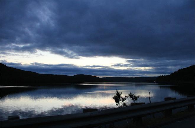 coucher de soleil route des rivieres