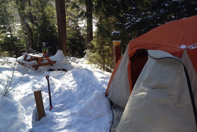 camping hiver-lac-castor