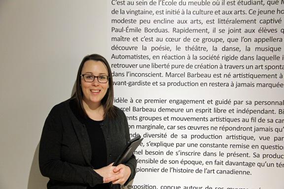 Mélissa, guide-animatrice au Centre d'exposition Raymond-Lasnier