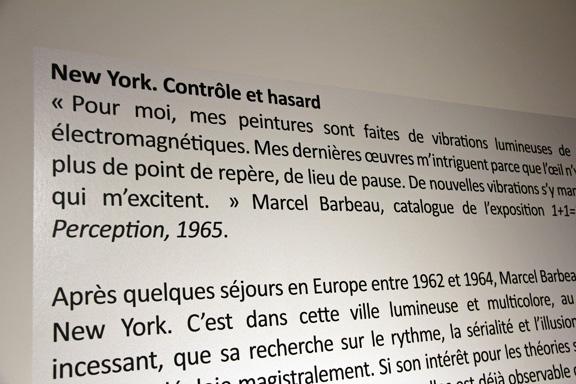 Exposition Marcel Barbeau.Vibrato au Centre d'exposition Raymond-Lasnier