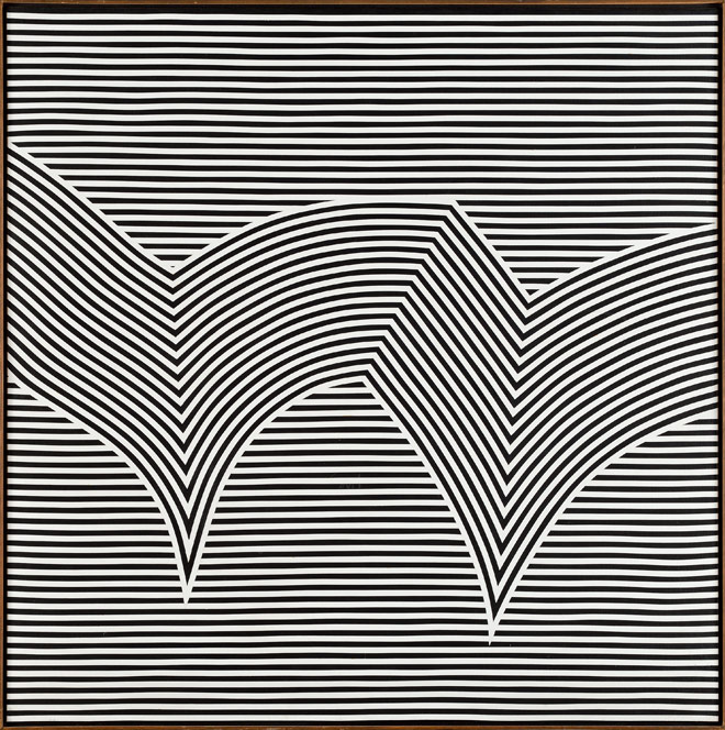 Marcel Barbeau.Vibrato au Centre d'exposition Raymond-Lasnier - Marcel Barbeau - Manon à New York, 1965 - Acrylique sur toile - Collection du Musée d'art de Joliette - Photo : Daniel Roussel © Succession Marcel Barbeau