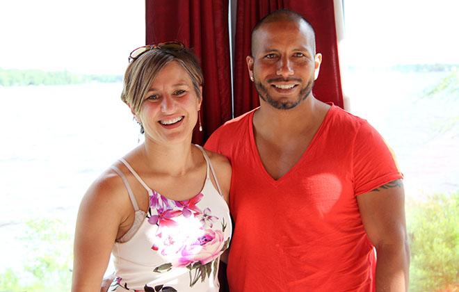 Jeanne Charbonneau et Christian AvilaTovar du Gîte du Lac-à-la-Tortue