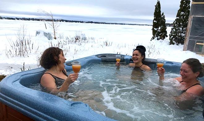 massotherapie hiver spa lac a la tortue