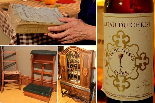Vieux meubles et objets au Lutin Marmiton