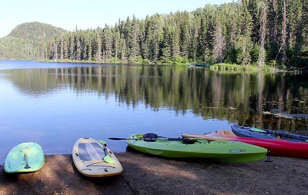 kayak et paddleboard en pourvoirie