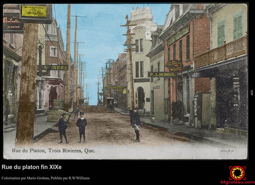 Photo historique, rue du Platon Trois-Rivières