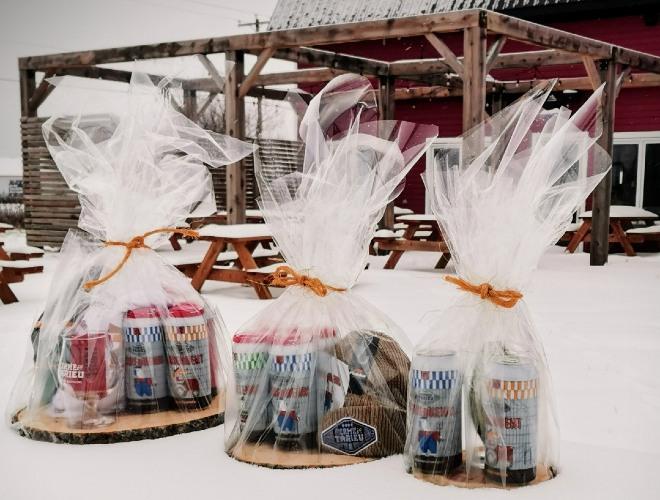 Bières de micro, offrir des produits locaux en cadeau