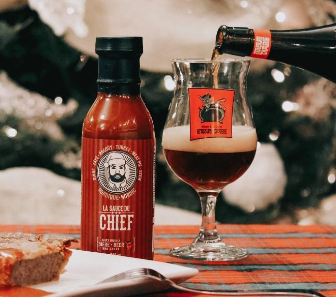 sauce bbq à la bière, produits collaboratifs pour achat local en Mauricie