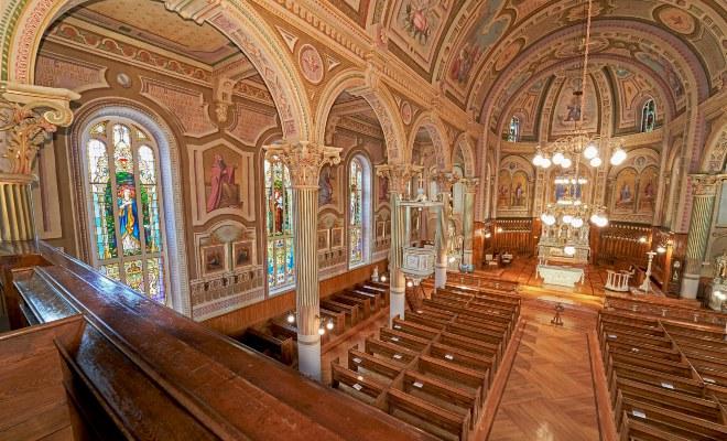 Visite en réalité augmentée en Mauricie, église Champlain