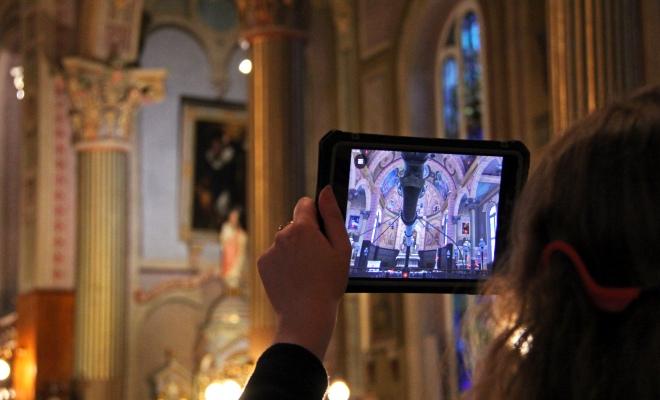 Réalité augmentée, activité à l'église Champlain en Mauricie