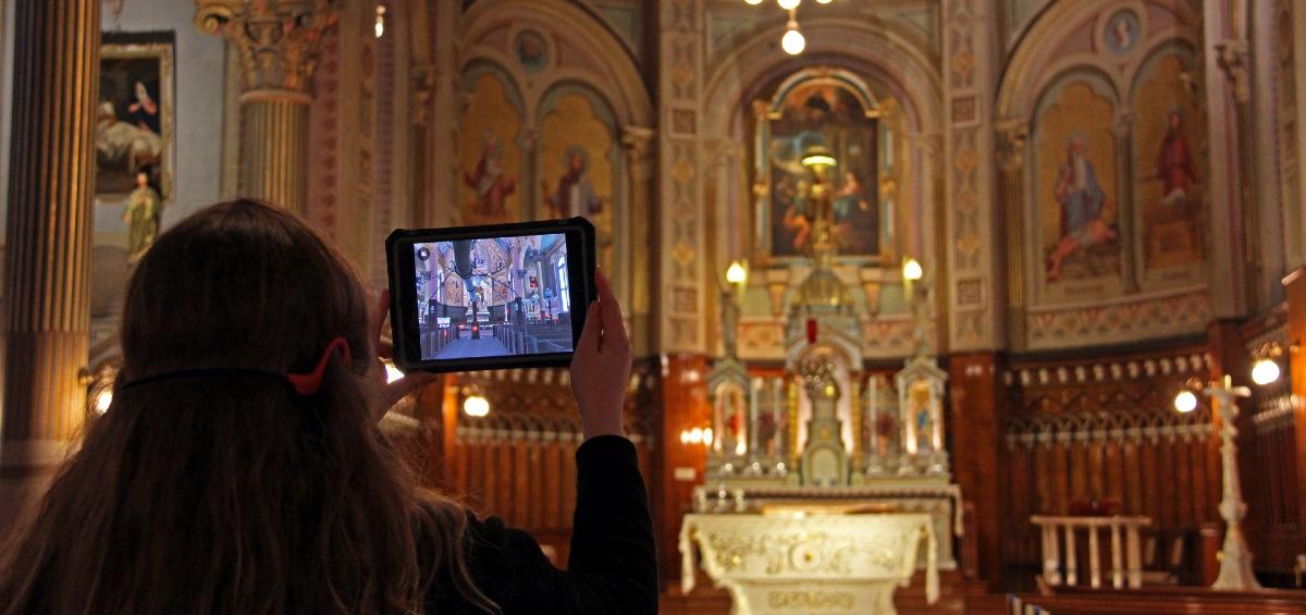 Visite de l'église Champlain en réalité augmentée, tourisme religieux