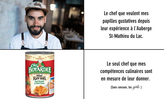 Samy Benabed à l'Auberge St-Mathieu du Lac