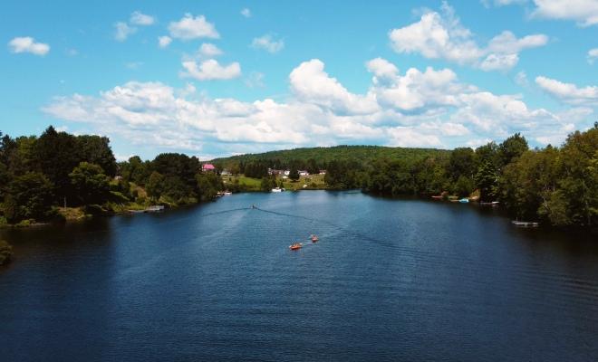 Activités à faire dans le village de Sainte-Thècle, lac croche