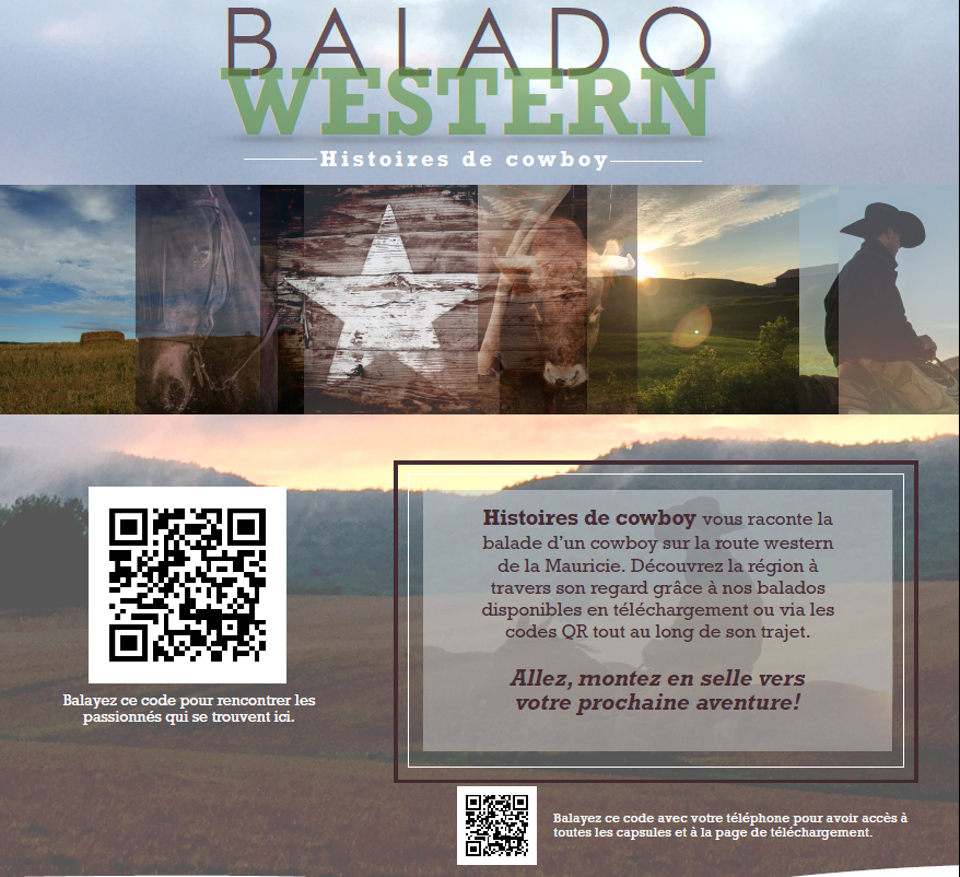 Balado western - Affiche et code QR