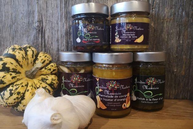 Jardins Nature Mauricie produits gourmands confitures marmelades agroalimentaire agrotourisme